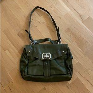 OrYany green satchel weekender work bag purse